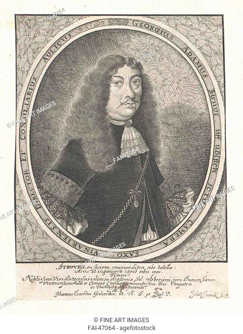 Portrait of Georg Adam Struve (1619-1692) by Franck, Johann (1659-1690)/Copper engraving/Baroque/Germany/Austrian National Library