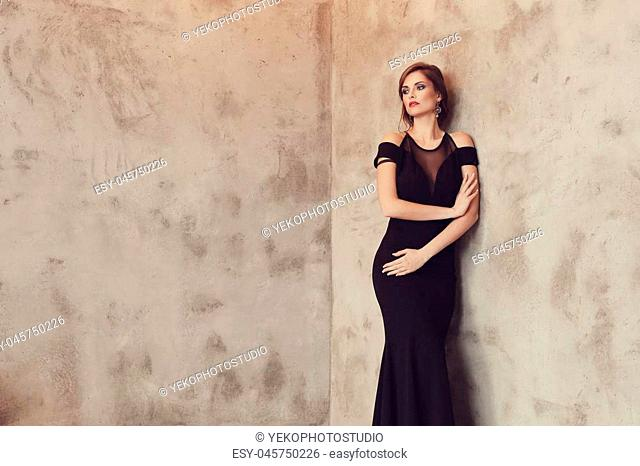 Lovely woman in evening dress