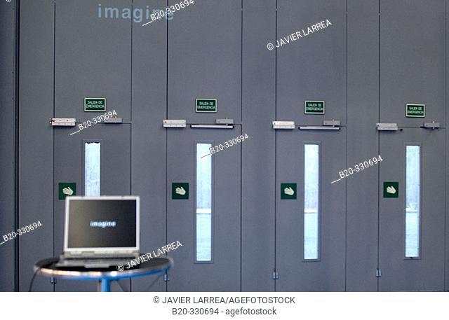 Accession doors to pavilion. Bilbao Exhibition Center (BEC). Barakaldo. Bizkaia. Euskadi. Spain