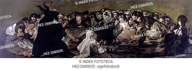 Witchess coven' (1797-1798), black painting by Francisco de Goya