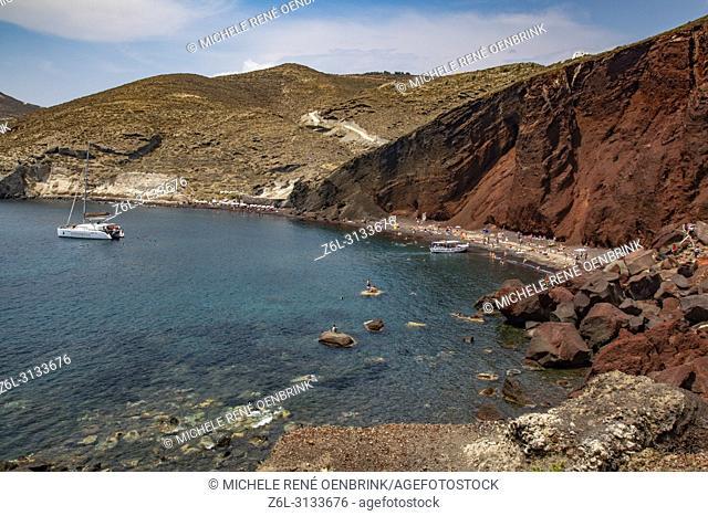 Red Beach in Santorini Greece