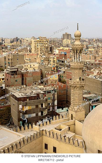 Egypt, Cairo Governorate, Cairo, view from the Minaret of the Ibn Tulun Mosque