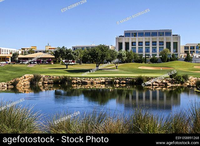 Landscape view of a golf course in the Algarve
