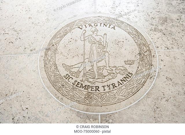 Seal of Virginia in Fort Bonifacio, Manila, Philippines