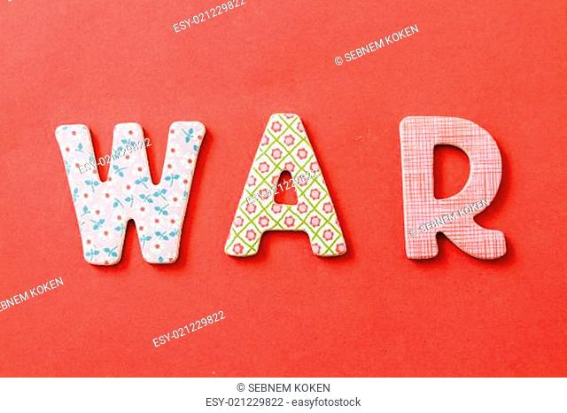 Colorful Text, War