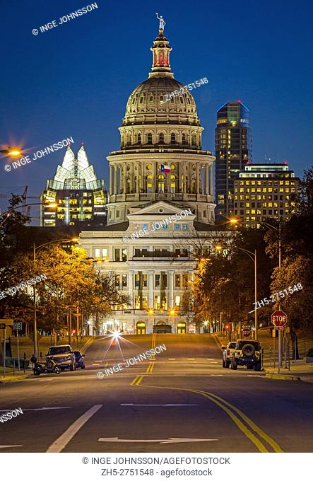 The Texas State Capitol, located in Downtown Austin, is the fourth building to house the state government of Texas. The capitol building contains the chambers...