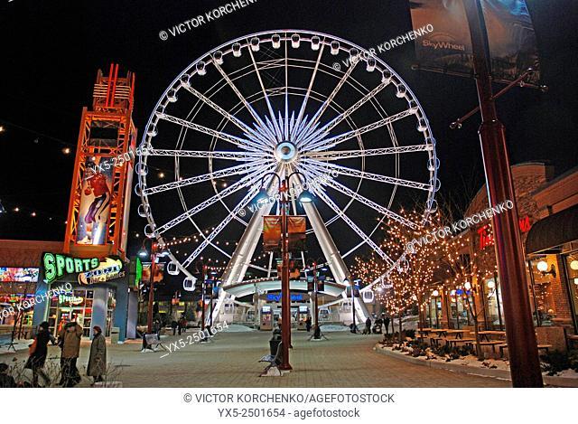 Ferris wheel on Clifton Hill in Niagara Falls, Ontario