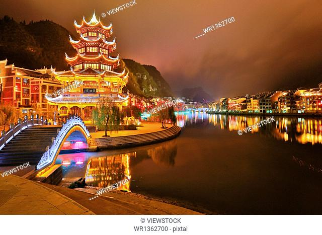 Far from the ancient city of Guizhou night