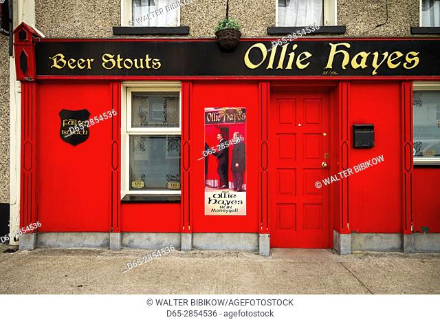 Ireland, County Offaly, Moneygall, Hayes' Bar and Pub, site of US President Barack Obama's visit, exterior