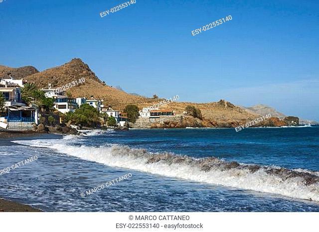 The beautiful panorama at Lendas, Crete