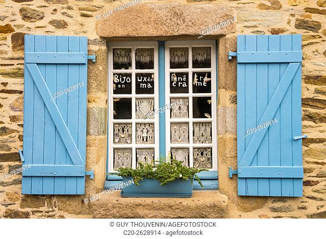 handmade lace window jewels for sale,Treguier, Cotes d'Armor, 22, Brittany, France
