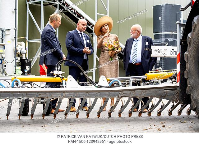 Queen Maxima of The Netherlands opes the 1st Green Mineral Plant in Beltrum. .The Groene Mineralen Centrale is the first plant in the Netherlands where animal...
