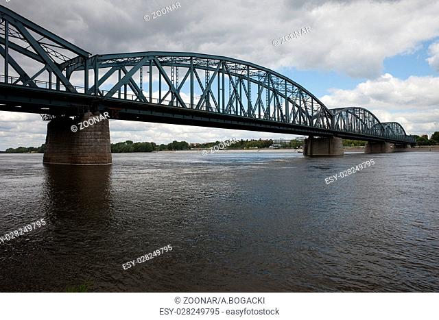 Pilsudski Bridge on Vistula River in Torun