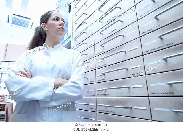 Portrait of pharmacist in pharmacy