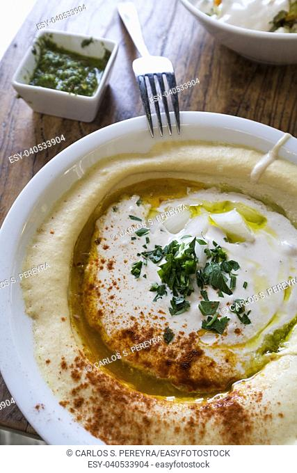 Hummus in a restaurant in Berlin Germany