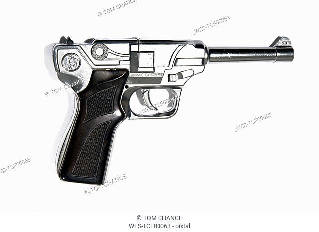 Pistol, close-up