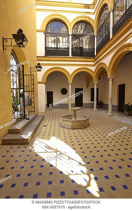 A room in the Alcazar de Seville, Spain