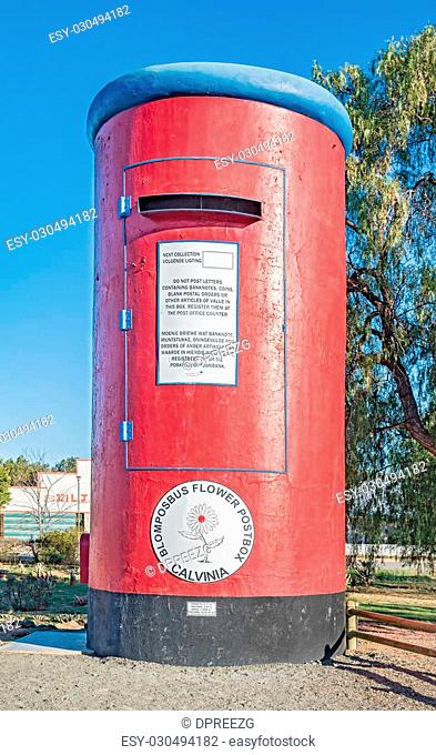 This postbox in Calvinia, South Africa, is 6 meter high and was originally an old water tower. The actial postbox can be seen attached to its left side