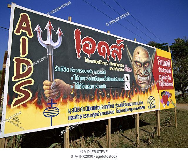 Aids, Asia, Awareness, Billboard, Holiday, Landmark, Poster, Thailand, Tourism, Travel, Vacation