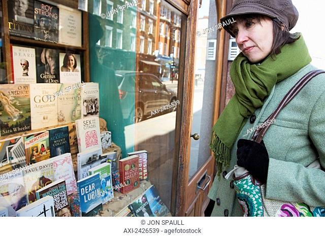 Daunt Books bookshop, Marylebone High Street; London, England