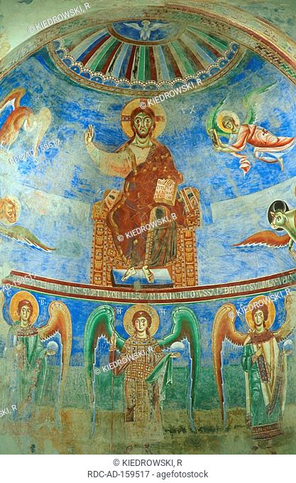 Wall painting church Sant Angelo Formis Campania Italy