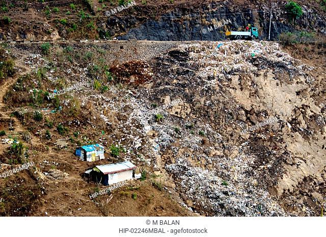 GARBAGE AND WASTE DUMPED ON WAYSIDE, KERALA