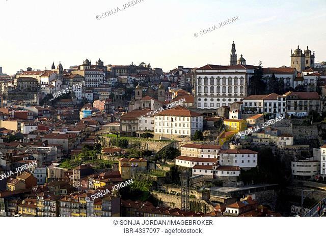 View of Ribeira historic centre, Porto, UNESCO World Heritage Site, Portugal