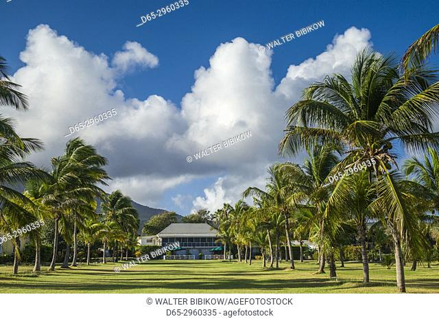 St. Kitts and Nevis, Nevis, Nisbet Beach, Nisbet Plantation Inn, former sugar plantation