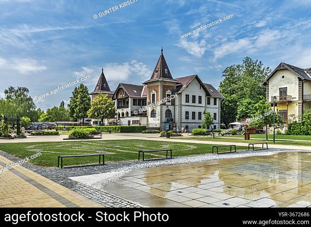Hotel Hullam was opened in 1894. Next to it is the hotel Balaton, it was opened in 1895. Both hotels are located on the shores of Lake Balaton in Keszthely