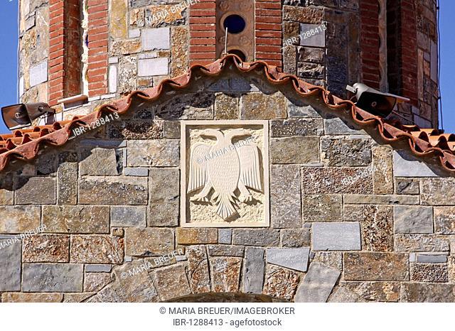 Detail, church, mountain village of Axos, Crete, Greece, Europe