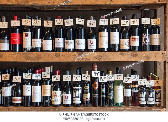 Regional wine stocks at Cellar Door Wine Store, Beechworth, NE Victoria, Australia