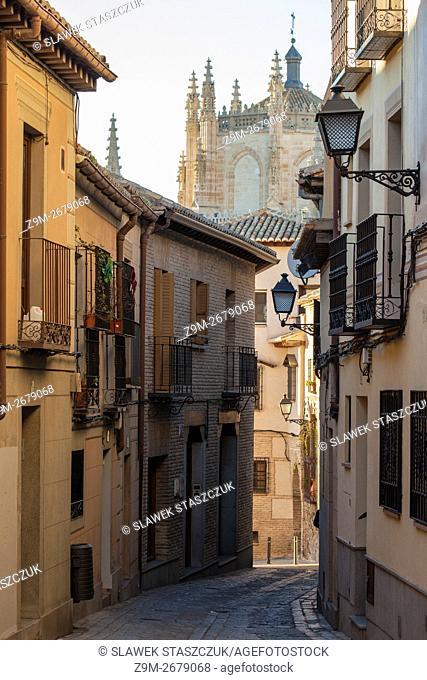 Afternoon in Toledo old town, Castilla la Mancha, Spain