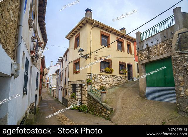Street. Casasana, Guadalajara province, Castilla La Mancha, Spain