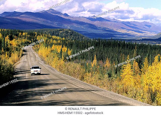 Canada, Yukon, the Dempster Highway between Dawson city and Inuvik (457 miles)