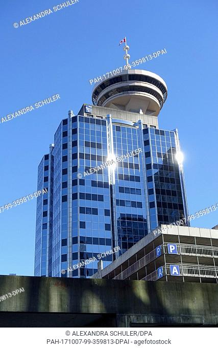 View of the Harbour Centre Tower in Downtown Vancouver, Canada, 27 August 2017. - NO WIRE SERVICE - Photo: Alexandra Schuler/dpa