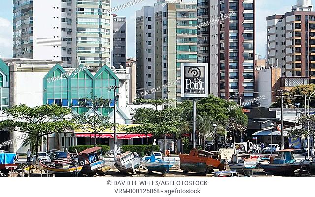 Modern apartment buildings at Vitoria, Espirito Santo, Brazil