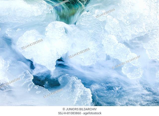 Ice detail in heart shape, Switzerland