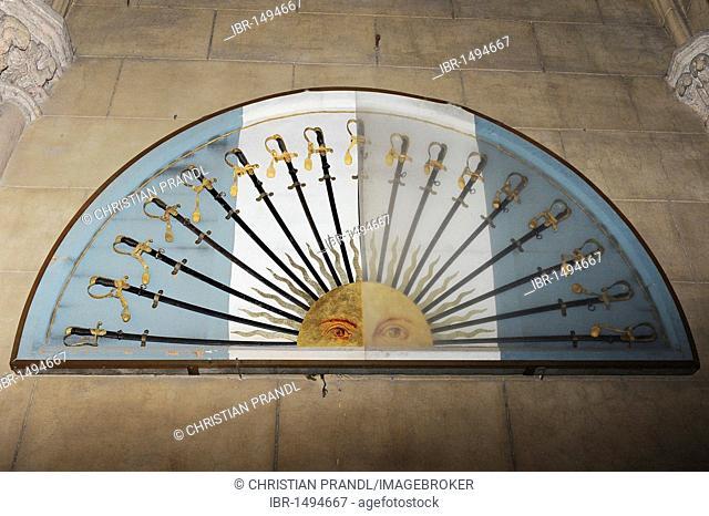 Sun dial, Basilica Nacional Nuestra Senora de Lujan, Argentina, South America