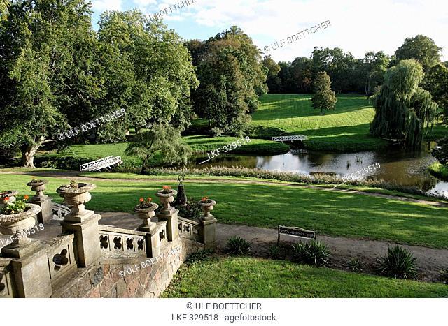 Castle Grounds, Kittendorf, Mecklenburg Switzerland, Mecklenburg-Western Pomerania, Germany