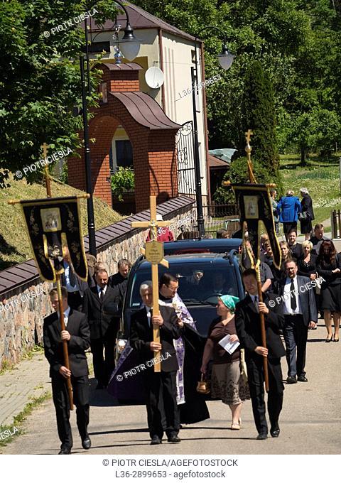 Poland. Mielnik. Orthodox funeral