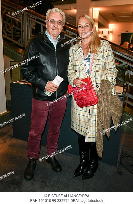"""09 October 2019, Berlin: Henry Hübchen and his daughter Franziska come to the premiere of """"""""Faith in the Possibility of the Complete Renewal of the World"""""""" in..."""