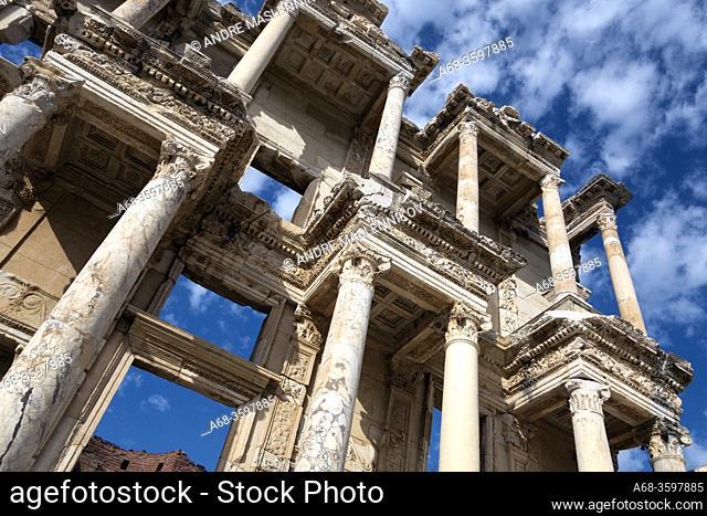 Ceslcius Library in Ephesus. Turkey