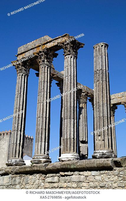 Roman Temple, Evora, UNESCO World Heritage Site, Portugal