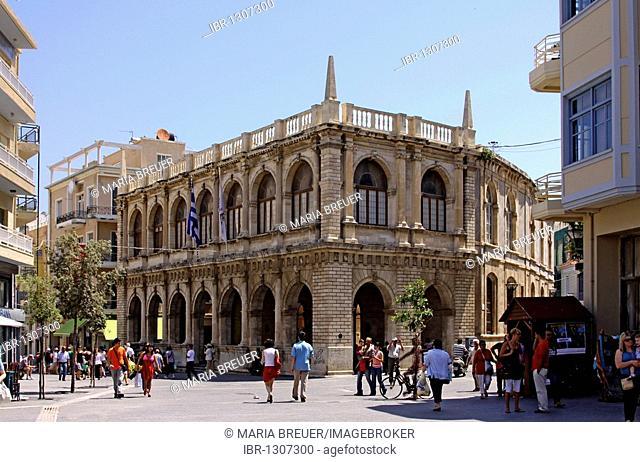 Venetian Loggia, built in 1628, Town Hall, Heraklion or Iraklion, Crete, Greece, Europe