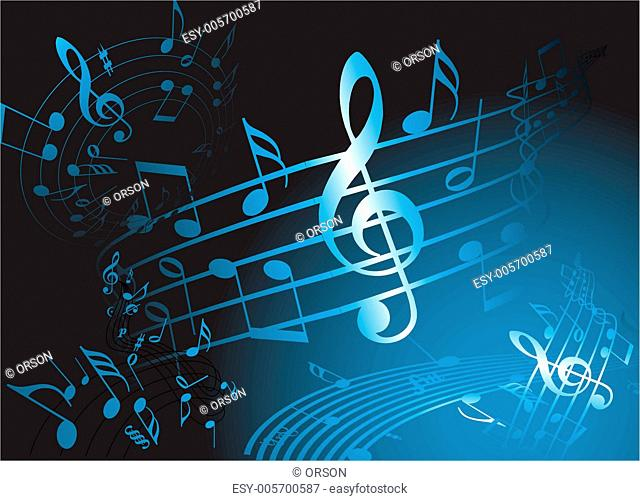 Blue music theme