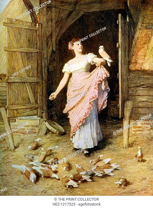 'The Farmer's Daughter', 1881, (1912). A colour print from Famous Paintings, with an introduction by Gilbert Chesterton, Cassell and Company, (London, New York
