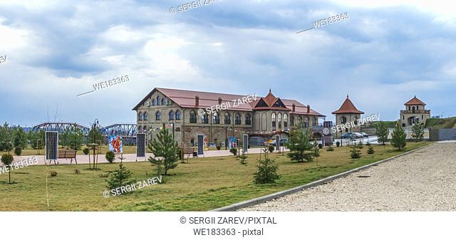 Alexander Nevsky Park on the territory of the historical architectural complex of the ancient Ottoman Citadel in Bender, Transnistria, Moldova