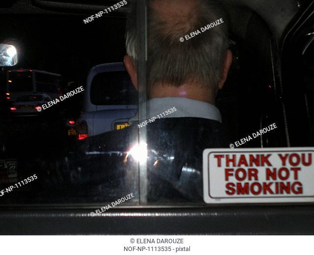A black cab in London, UK