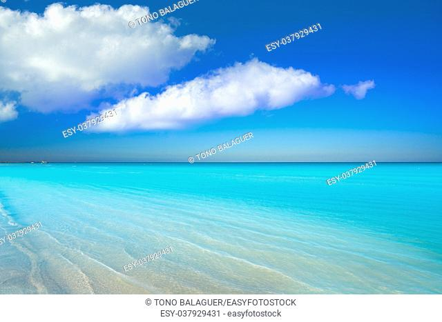 Holbox Island turquoise beach in Quintana Roo of Mexico