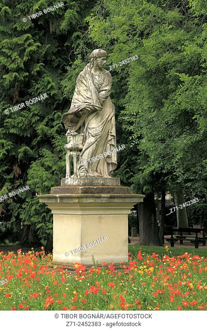 France, Paris, Jardin du Luxembourg, park, garden, statue